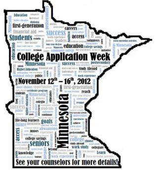 Minnesota College Application Week 2012